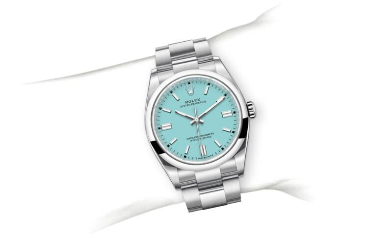 Rolex M126000-0006 assets_on_wrist 劳力士手腕 Oyster Perpetual